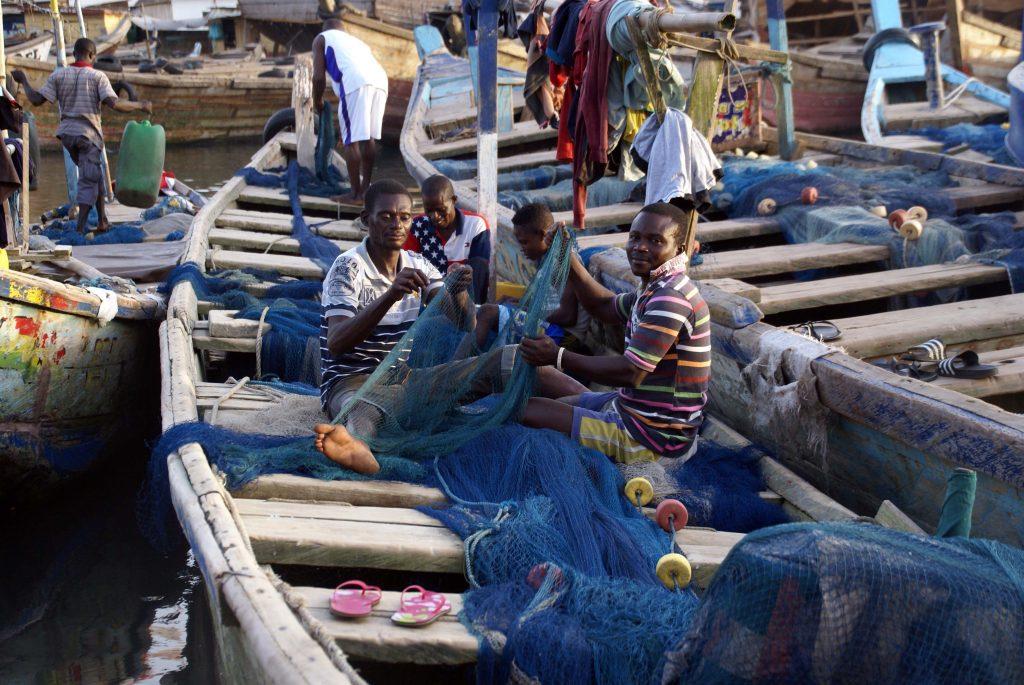 Pescadores de Elmina, Ghana
