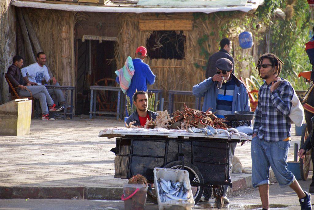 Puesto de pescado, Puerto de Ashila