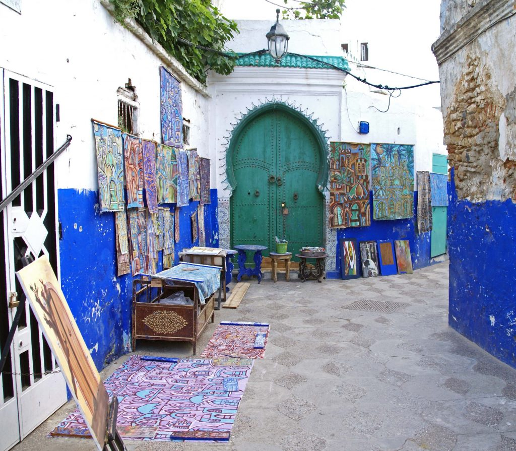 Murales en la Medina de Ashila, Marruecos