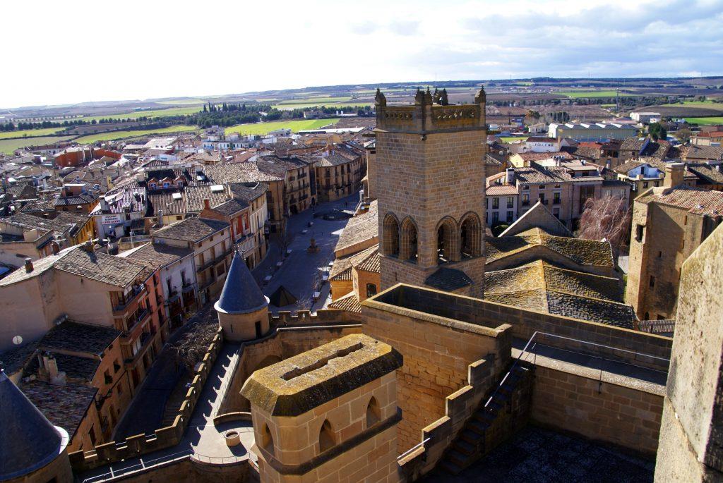 Vistas de Olite desde la Torre del Homenaje