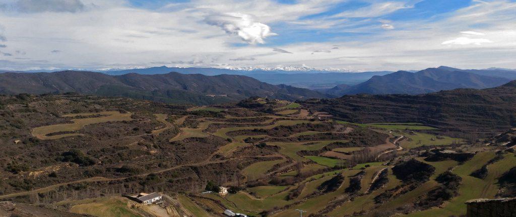 Vistas desde Ujué, Navarra